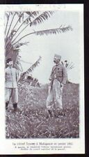 1935  --  COLONEL LYAUTEY A MADAGASCAR EN 1902  G690