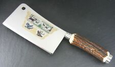 Hubertus Butcher Meat Cleaver Knife w. Hunting Scene Etching / Stag * New *