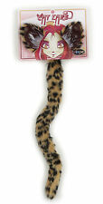 Cheetah Cat Ears Tail  Adult Child Kids Accessory Costume Kit Set Elope New