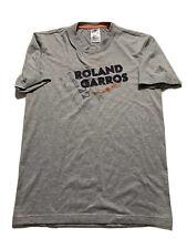 ROLAND GARROS FRENCH OPEN ADIDAS TENNIS COURT T-SHIRT Women's SIZE XS Grey EUC