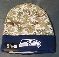 NFL Seatle Seahawks New Era Digital Camo Knit Beanie Hat Football Hunting