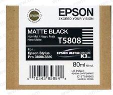 ORIGINALE Epson t5808 INCHIOSTRO MATTE BLACK PER STYLUS PRO 3800 3880 2017 OVP