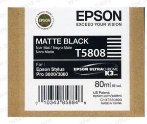 Original Epson T5808 Tinte matte black für Stylus Pro 3800 3880  2018 OVP