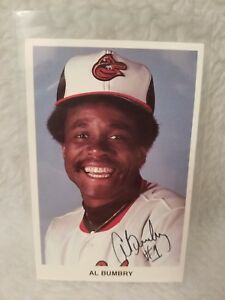 Baltimore Orioles Al Bumbry Signed Photo in Plastic Sleeve