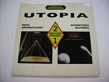 UTOPIA - OOPS! WRONG PLANET / ADVENTURES IN UTOPIA - 2LP VINYL 1988 EXCELLENT