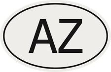 Aufkleber Autokennzeichen AZ = Aserbaidschan Autoaufkleber Sticker