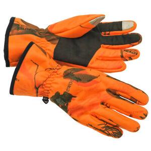 Pinewood Toni Camou Handschuhe orange Jagd Nachsuche Outdoor Forst Waldarbeit