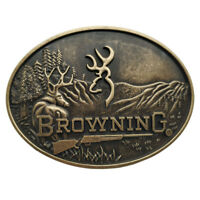 Browning Buckmark Belt Buckle Bronze Color Deer Country Hunting Fishing