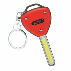 Object Key Shape COB LED Lightweight Torch Light Keyring Batteries Included
