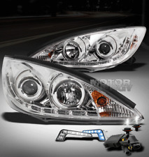 02-04 TOYOTA CAMRY LED CHROME PROJECTOR HEAD LIGHTS W/BLUE DRL BUMPER+HID 6000K