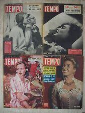 INGRID BERGMAN - 4 copie TEMPO 6/1950 22/1950 36/1951 e 2/1956