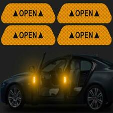 Yellow 4PCS Super Car Door Open Sticker Reflective Tape Safety Warning Decal