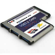 AKE USB 3.0 PCI Express Card Karte 54mm 3 Port für Notebook Win7 Vista GE