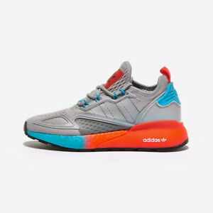 Adidas ZX 2K Boost W - Gray Orange Blue / FY0606 / Running Shoes Sneakers