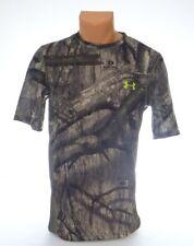 Under Armour Tech Scent Control Mossy Oak Camo Short Sleeve Hunting Shirt Men's