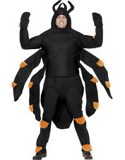 Scary Creepy Giant Black Spider Costume Insect Unisex Halloween Costumes Adult