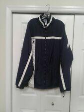 Adidas Team Men's Zip Up Navy Blue Jacket Wind Breaker Rain Size 2XL