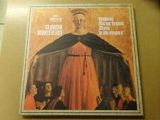"""3 X LP BOX 12"""" / CLAUDIO MONTEVERDI: VESPERAE MARIAE VIRGINIS (ARCHIV, GERMANY)"""