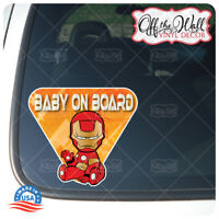 "Baby Iron Man""BABY ON BOARD"" Sign Vinyl Decal Sticker for Cars/Trucks"