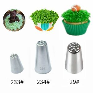 Steel Cream Cupcake Piping Pastry Icing Nozzles Cake Decorating Tip Grass Fury