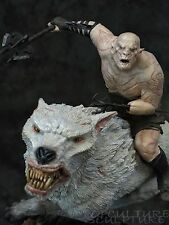 WETA : AZOG the DEFILER on WARG statue The Hobbit  LotR EXTREMELY RARE Pale Orc