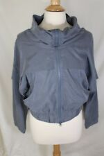 ADIDAS STELLA MCCARTNEY SHORT COOL DOWN GRAY JACKET WITH FLARED NECKLINE AND ZIP