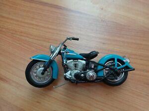 1/24 Franklin Mint Classique 1949 Hydra Glide Harley Davidson Moto Vélo