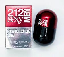 212 SEXY MEN NEW YORK PILLS * Carolina Herrera 0.68 oz EDT Men Cologne Spray