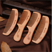 New Peach Wood Comb Anti-static natural Hair Care Massage wooden comb Tools