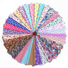 1 Set 30pcs Square Floral Cotton Fabric Patchwork Cloth For DIY Craft Sewing
