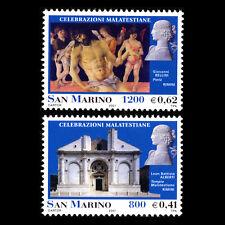 San Marino 2001 - Malatesta Art Paintings Architecture - Sc 1497/8 MNH
