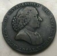 1790 Great Britain Conder Token 1/2 Half Penny - Macclesfield