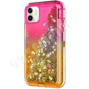 For iPhone 12 6 7 8 Plus 11 Pro X XR Max Hard Liquid Glitter Case