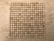 Mosaico in pietra travertino chiaro per rivestimento pareti interni / esterni