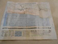 """Scanned reproduction map of WWII D-Day """"Private Ryan"""" """"Bigot"""" for 50th anniver."""