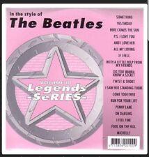 KARAOKE CDG     LEGENDS SERIES  VOLUME  10  THE BEATLES   18 TOP TRACKS