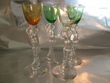 Cambridge Glass Nude Stem Cordial Glass Set of Four