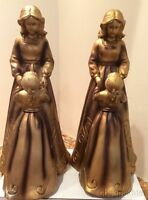 "Gold Mother Daughter Statue 9.5""by Collections Etc.Figurine  DISCOUNTED SET OF 2"