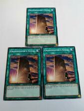 "YUGIOH!! 3x ""Gravekeeper's Stele"" SS01-ENB12! Common! Near Mint! 1. Edition!"