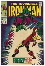 IRON MAN #5, NM-/NM CONDITION, 1968 MARVEL, WHITE PAGES