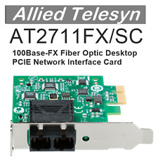 AT2711FX/SC Allied Telesyn 100FX LAN NIC FO Fiber Optic PCI-e PCIE Card Telesis
