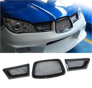 Fit For Subaru Impreza 9th WRX/STI 2006-2007 Carbon Fiber Front Grille Grill 3X