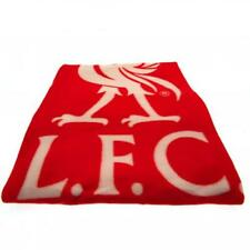 Liverpool FC Official Crested Fade Fleece Blanket Throw Gift Present