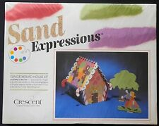 Sand Expressions Gingerbread House Kit By Crescent - New/Factory Sealed-Vintage