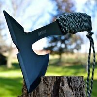 "9"" TACTICAL SURVIVAL Combat THROWING AXE Hatchet Hawk TOMAHAWK w/ SHEATH"