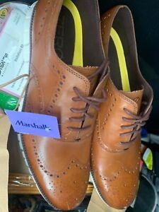 New Cole Haan Men's ZeroGrand Wingtip Oxford Leather British Tan  C14493 Size 16