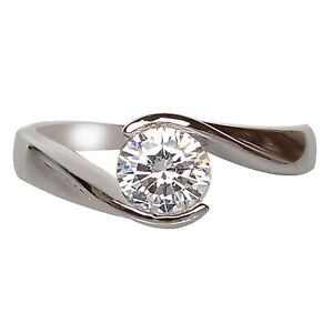 14KT Gold / G-H Color 0.55Ct (5.50mm app.) VS2 Natural Diamond Solitaire Ring