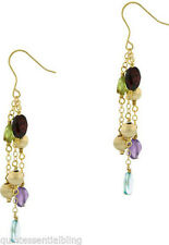 18k Gold Filled Vermeil Multi Gem Drop Dangle Earrings