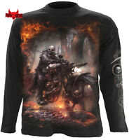 Spiral Direct Steam Punk Rider Hombres Camiseta de manga larga /Motociclista/