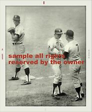 MICKEY MANTLE & BOBBY MERCER IN 1970 MANTLE 1ST BASE COACH 1 YEAR AFTER PLAYING